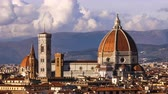 toscano : Beautiful views of Florence and Cathedral Santa Maria del Fiore, evening, Florence, Italy. Clouds, timelapse. Evening.