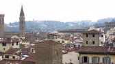 toscano : Beautiful aerial view of Florence from the observation platform of Duomo, Cathedral Santa Maria del Fiore.
