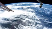 questões : Planet Earth seen from space. Stock Footage