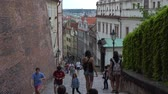 terracota : Prague, Czech Republic - JULY 2017: Architecture and traffic in Prague , Czech Republic.