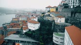 Porto, circa 2018: Panoramic view of the old city of Porto. Portugal, Porto Ribeiras view. Panorama old city Porto at river Duoro.