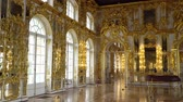 kastély : St. Petersburg, Tsarskoe Selo, Russia, June 2018: Interior of Catherine Palace in Catherine park in Tsarskoe Selo near Saint Petersburg, Russia.