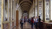 фреска : St. Petersburg, Peterhof, Russia, June 2018: Winter Palace. The Raphael Loggias of state Hermitage Museum in St. Petersburg. Hermitage Museum, is the greatest museums in the world, founded in 1764.
