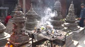 titokzatos : Kathmandu , Nepal - October 2018: Interior of Bijeshwori temple in Kathmandu, Nepal. Stock mozgókép
