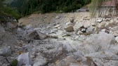 akım : Panorama of a mountain river. Consequences of mudflow