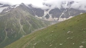 embarque : View from the chair lift to the glaciers. Motion the camera up down