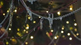 csecsebecse : Christmas garland on which hang icicles. Close-up.