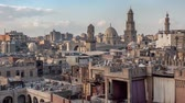 minarete : Beautiful view of the old part of city Cairo Stock Footage
