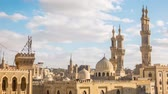 ancient egypt : Beautiful view of the old part of city Cairo Stock Footage