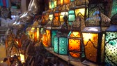 sklep : Cairo, Egypt - Feb 02 2019: Lamp or Lantern Shop in the Khan El Khalili market in Islamic Cairo