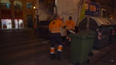 ピックアップ : Garbage  collection during  Valencian Festival of Fallas. City garbage collecting crew. 動画素材