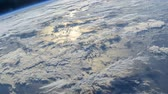 Rotating Planet Earth, as seen from the International Space Station. Time Lapse 4K