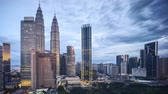 apartment hotel : 4k time lapse of sunrise at Kuala Lumpur city skyline. Zoom in Stock Footage