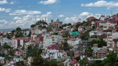 дом : Time lapse of Antananarivo city at sunny day. Madagascar