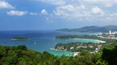 приморский : Time lapse of tropical coastline with beaches at sunny day