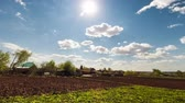 sky : Time lapse of the spring sky with clouds Stock Footage