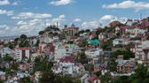 chmury : Time lapse of the city of Antananarivo at sunny day. Madagascar. Wideo