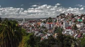 на крыше : Time lapse of the city of Antananarivo at sunny day. Madagascar. Стоковые видеозаписи