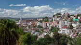 Африка : Time lapse of the city of Antananarivo at sunny day. Madagascar. Стоковые видеозаписи