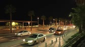 turva : Street of the city of Tel-Aviv in the night with cars