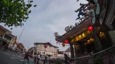 turizm : Chinese temple in Malaysian city of Penang at sunset. Pano down to up