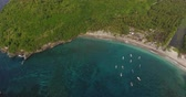 ниже : Aerial shoot of the Cyrstal bay beach of the island of Nusa Penida, Indonesia