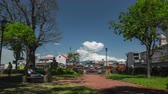 транспорт : SAN JOSE, COSTA RICA-FEBRUARY, 17, 2017: Time lapse of the city of San Jose at sunny day Стоковые видеозаписи