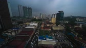 metropolitano : Timelapse of the rainy day in the city of Kuala Lumpur, Malaysia