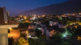 Day to night to day timelapse of the city of Oludeniz, Fethiye Turkey Stok Video