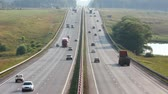 multilane : cars traveling on the highway - timelapse