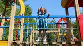 lifestyle : happy little girl on the playground