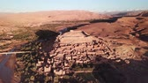 kasbah : Aerial view on Kasbah Ait Ben Haddou in the Atlas Mountains, Morocco, 4k