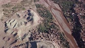 kasbah : Aerial top view on Kasbah Ait Ben Haddou in the Atlas Mountains, Morocco, 4k