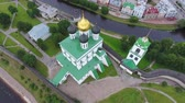 stone wall : Aerial view of the Kremlin