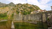 stone wall : Old town of Montenegro Stockvideo
