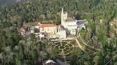 ゴシック : Aerial around and park of Bussaco, Coimbra, Portugal 動画素材