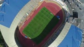 rohy : Aerial top view of city football soccer stadium