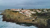 kapstadt : Aerial of coastal town Azenhas do Mar in Portugal Videos