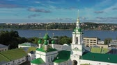 retailers : Aerial view of ancient Gostiny Dvor in Kostroma