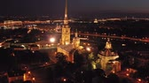бастион : Aerial view of Peter and Paul Fortress in Russia