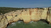 algarve : Rock cliffs and waves in Algarve Portugal