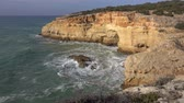 algarve : Rock cliffs and waves in Algarve, Portugal