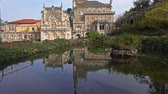 hagen : Facade and gardens of Bussaco Palace in Portugal