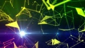 Light particles abstract and connections Stock Footage