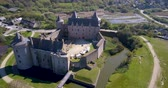 brittany : Medieval Castle of Suscinio in Brittany France  Aerial 4K
