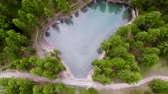 Drone footage 4K, Beautiful small lake in French Alps