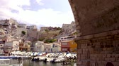 tekneler : Marseille - Vallon des Auffes video 4K Stok Video