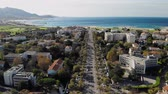 středozemský : Marseille, aerial 4K panoramic view of coastline, bay and beach