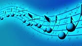 pouring : Animated background with musical notes, Music notes flowing, flying stream of Music Notes Stock Footage