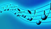 půltón : Animated background with musical notes, Music notes flowing, flying stream of Music Notes Dostupné videozáznamy